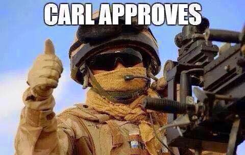 Carl approves