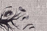 Ink on Newspaper