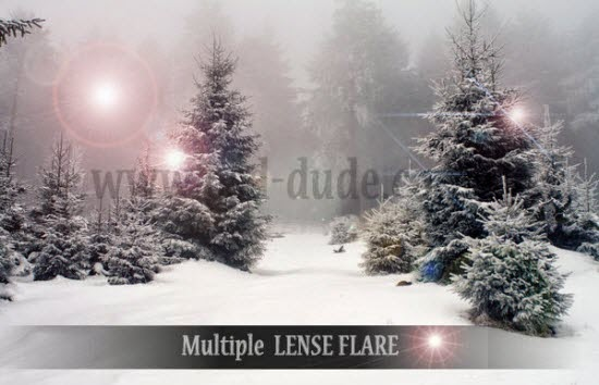Add Multiple Sun Lens Flare in Photoshop tutorial