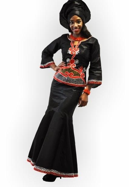 Ankara Fashion - Black And Gold Simple Styles