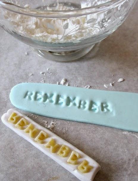 Abecedario diy - sello handmade con la sopa de letras