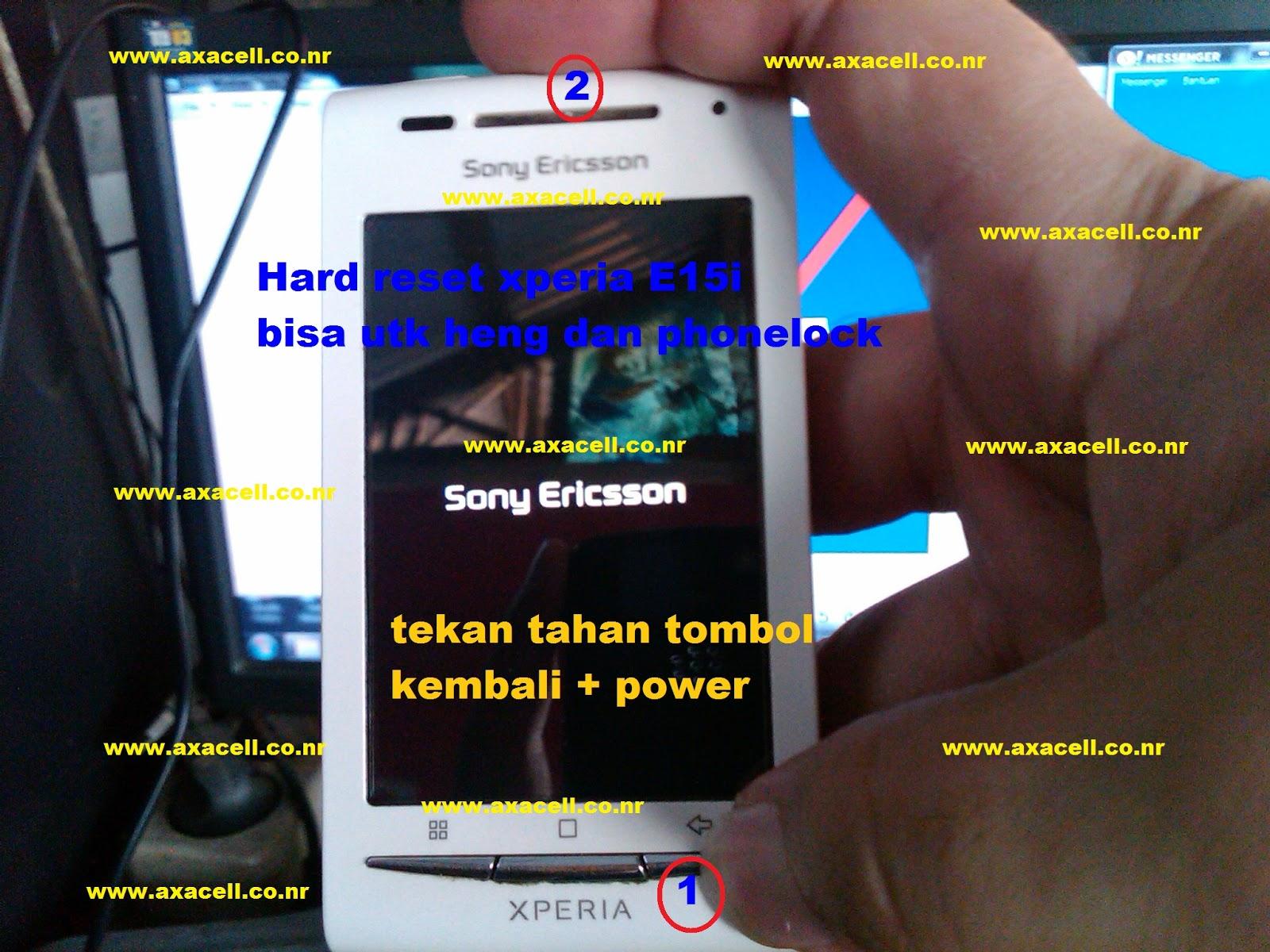 Sony Ericsson Xperia E15i Hard Reset