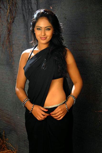 Nikesha Patel In Black Saree