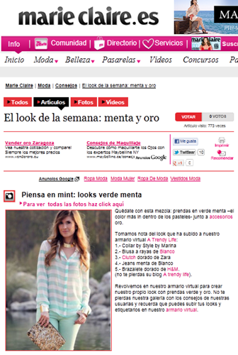 A TRENDY LIFE EN MARIE CLAIRE.ES