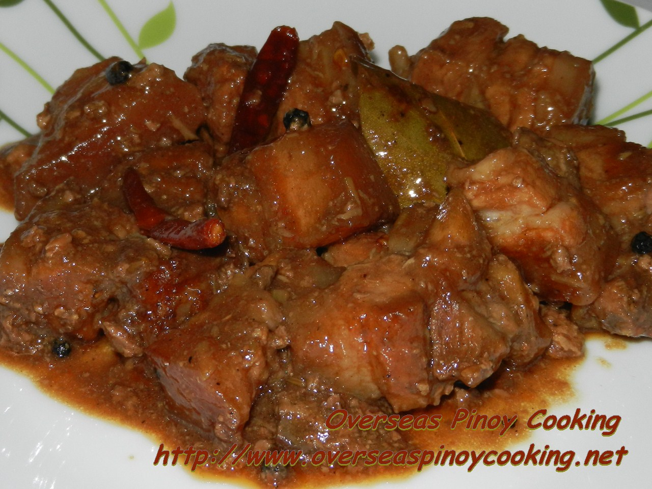 Pork Adobo with Chunky Chicken Liver Sauce
