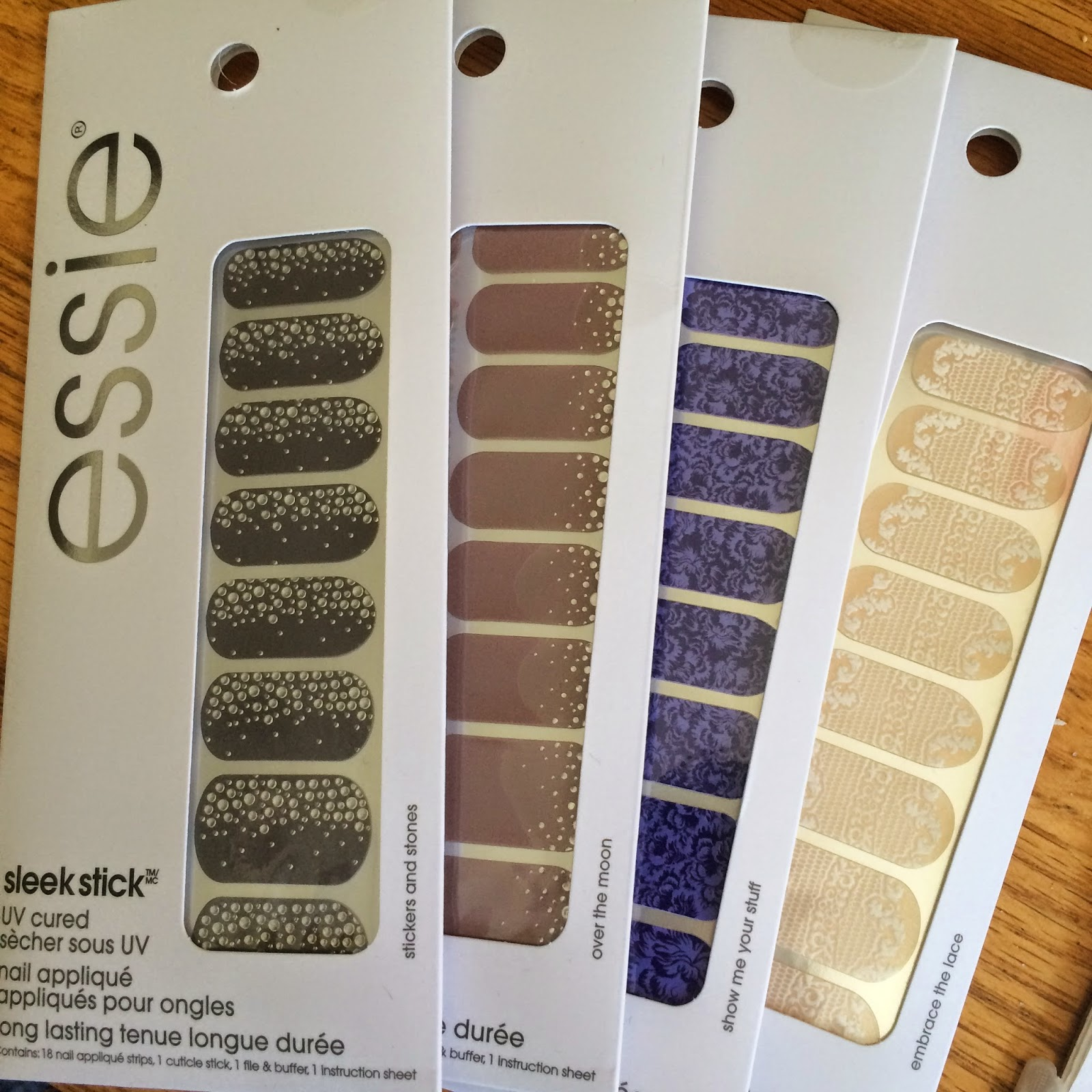Review and Swatch: Essie Sleek Stick nail appliques in Stickers and ...