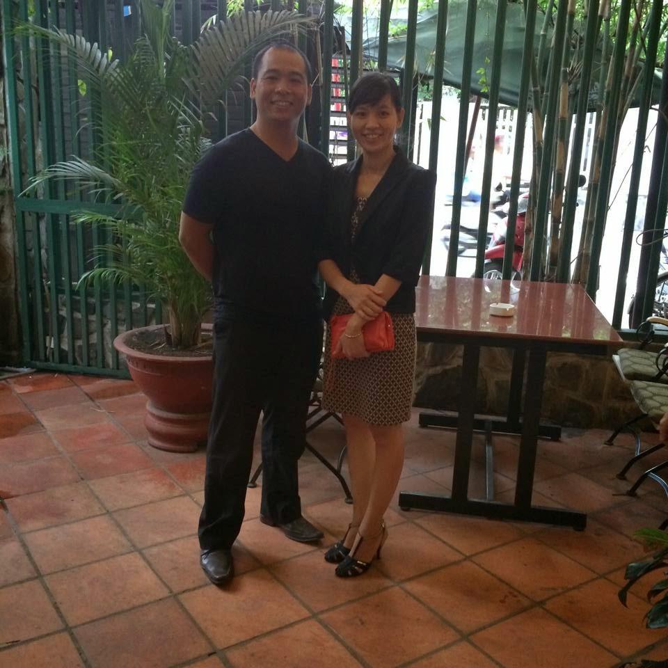 Ninh Xuân Trường và chị Nguyễn Hồng Dung