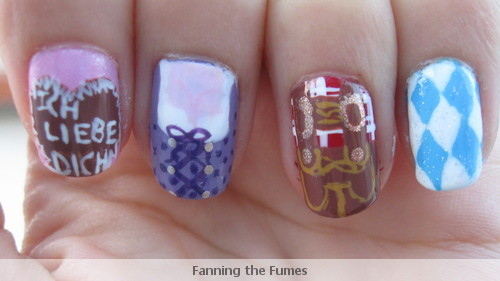 Fanning The Fumes A Nail Art Blog Oktoberfest Nail Art Contest Entry
