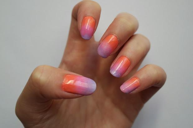 zoe georgina ombre nails tutorial
