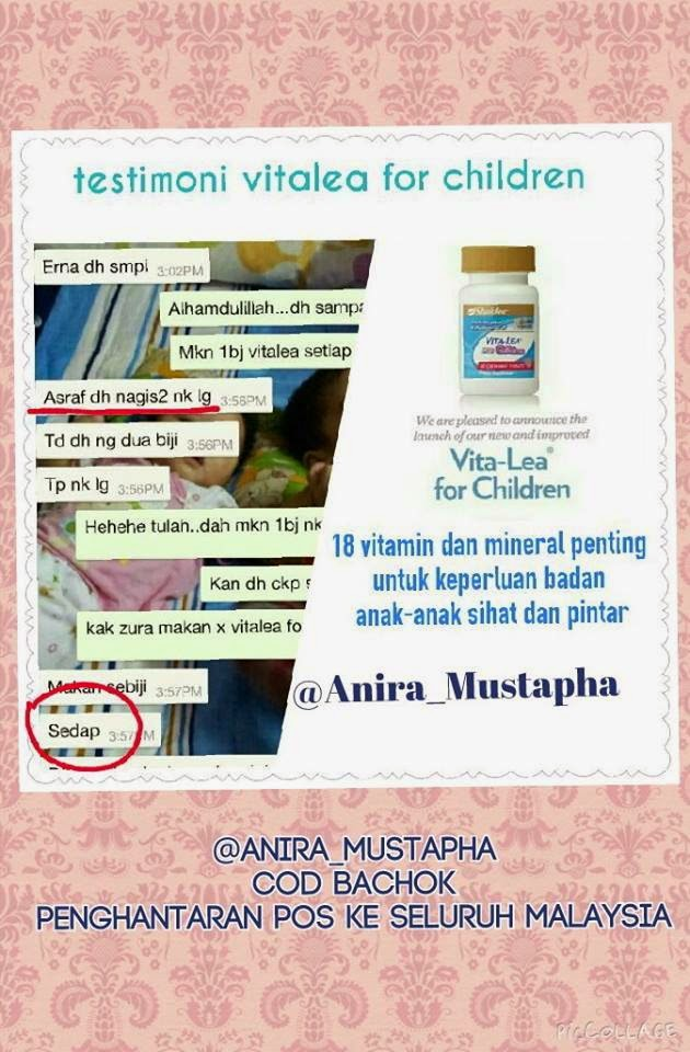testimoni vitalea for children