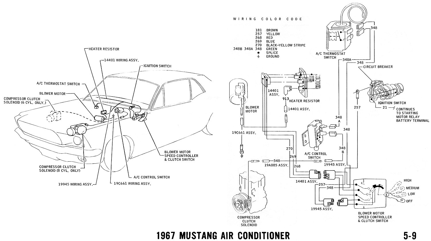 mustang wiring schematic images 1966 thunderbird vacuum line diagram as well 1968 mustang ac vacuum