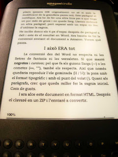 Kindle en català