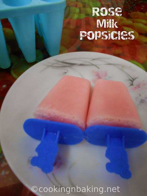 Rose Milk Ice Pops