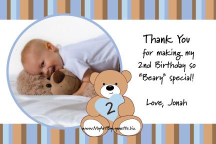 LynnetteArt Teddy Bear Birthday Invitation with photo