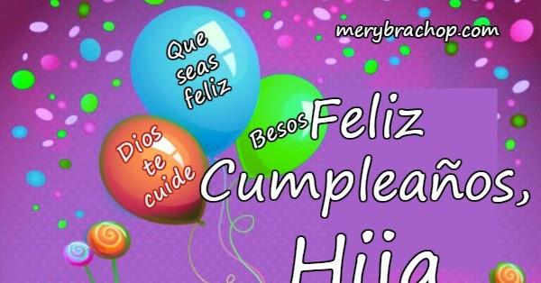 Tarjeta de Cumpleaños para mi Hija   Entre Poemas y Vivencias
