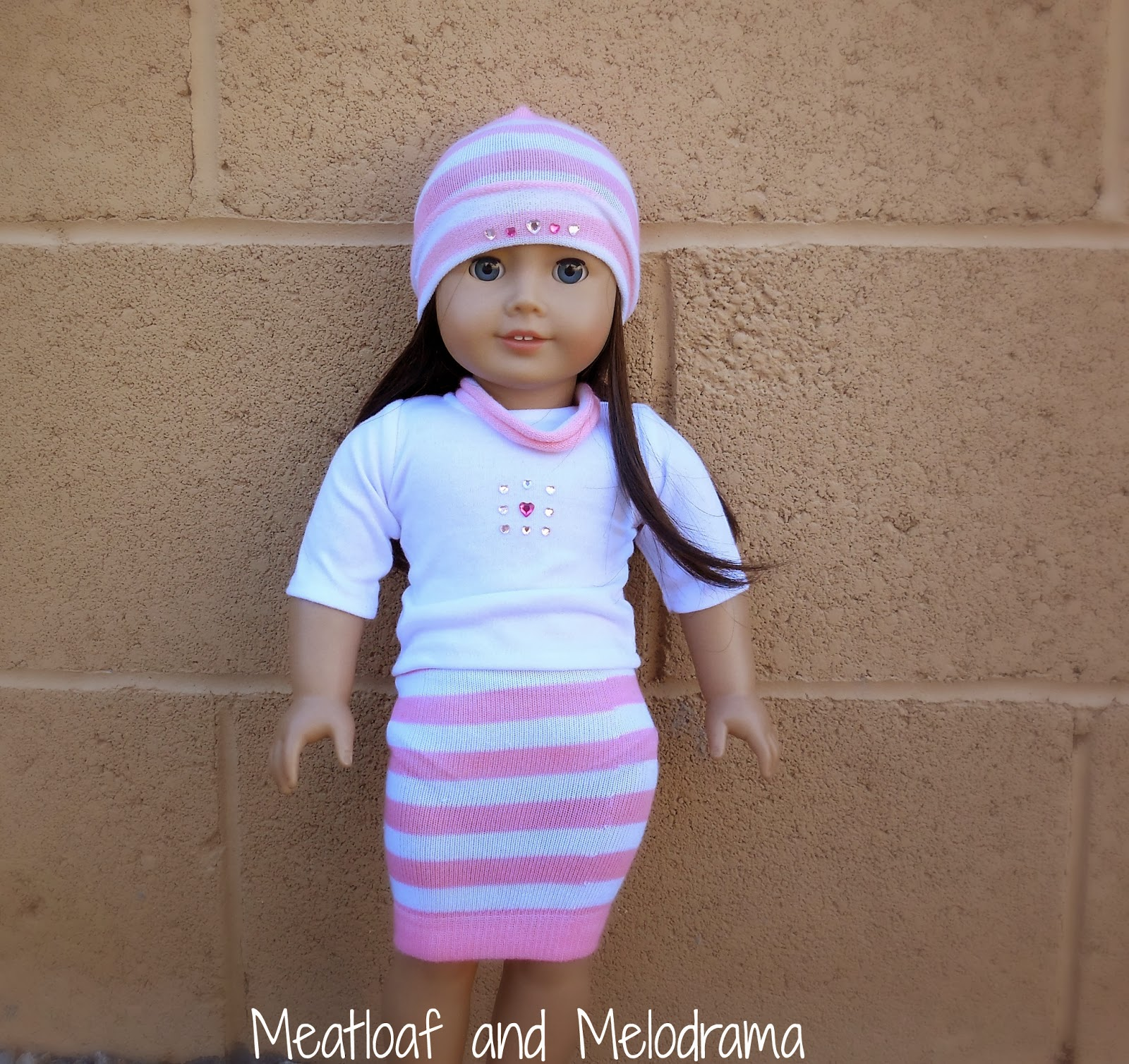 no sew american girl outfit, sock