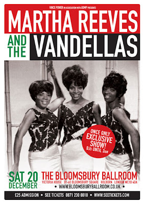 Martha Reeves and The Vandellas concert poster