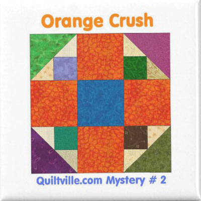 mystery quilt orange crush