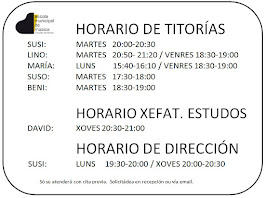 HORARIO TITORIAS