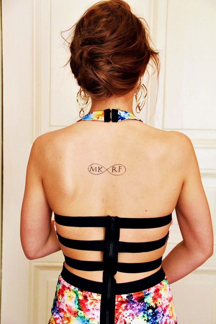 inked girl cutout back