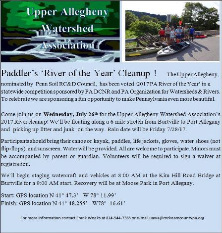 7-26 Paddler's River Of The Year Clean Up