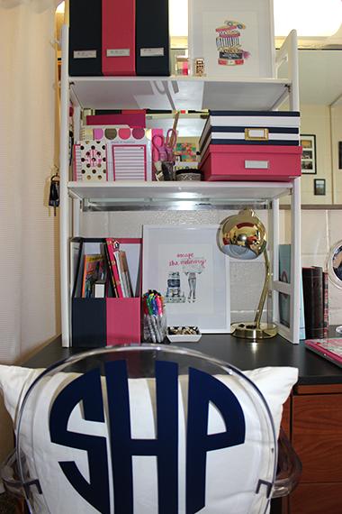 Dorm Room  Sophomore Year  Prep Avenue ~ 130713_Dorm Room Ideas Desk