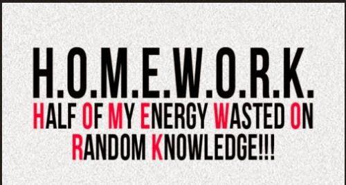 Homework necessary