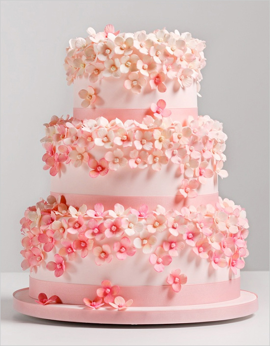 Valentine Pink Wedding Cake Ideas... ~ Hot Chocolates Blog