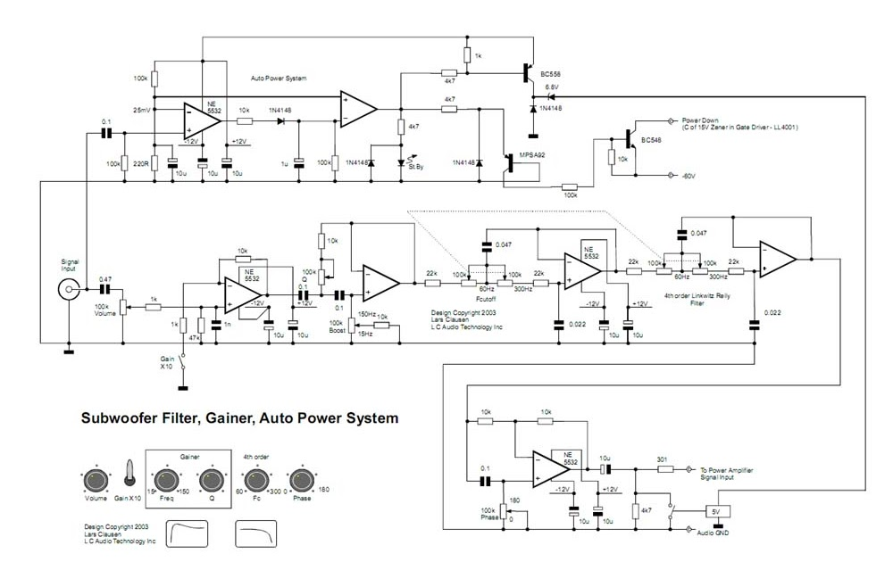 D Rudiant  Stk4141 Subwoofer Circuit Diagram