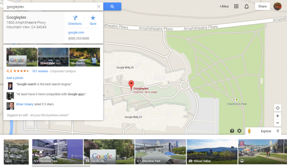 The new google maps replaces the classic interface