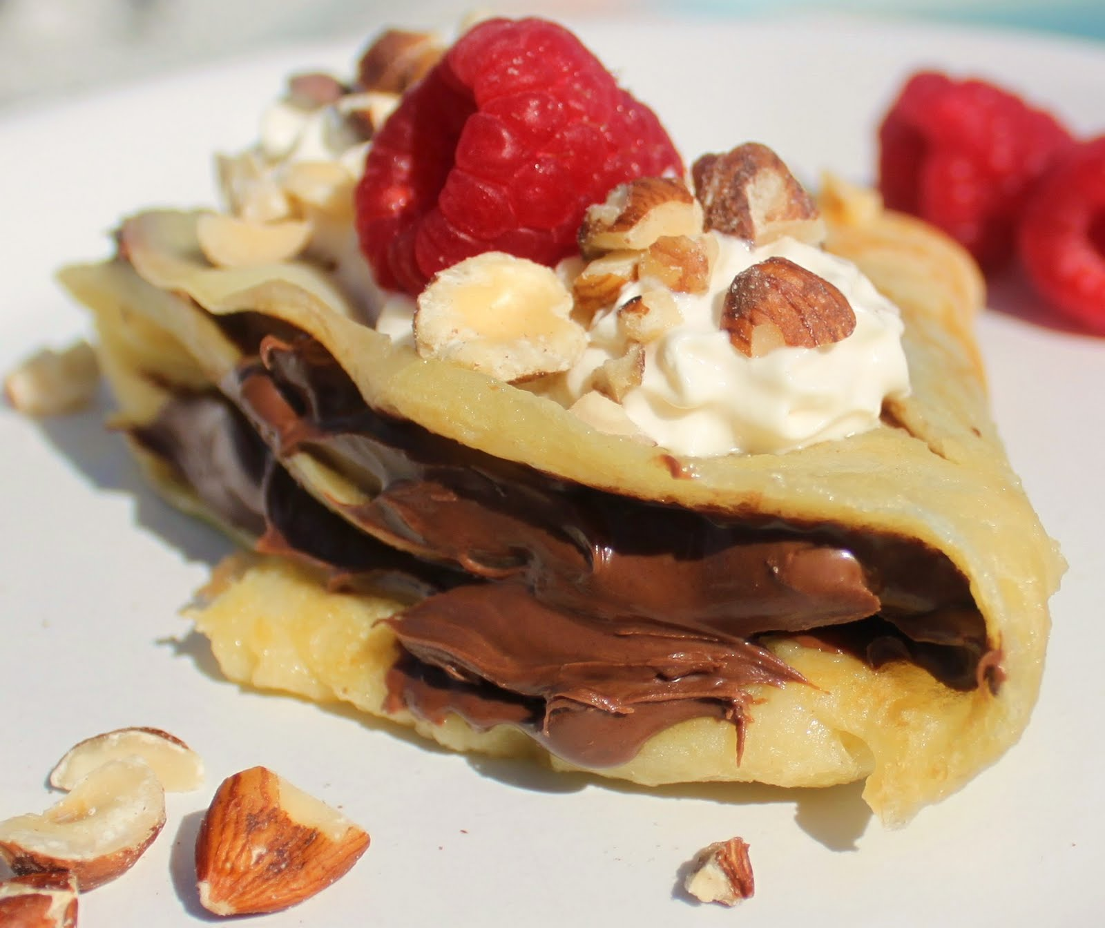 French Crepes With Nutella Nutella raspberry crepe