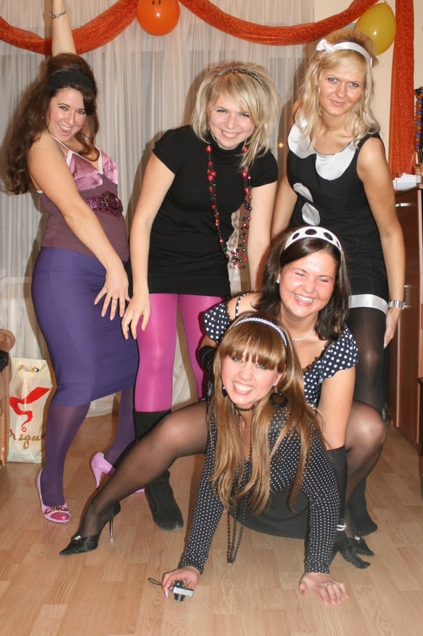 Teen pantyhose party