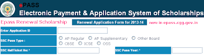 Epass Renewal Scholarship Online Registration