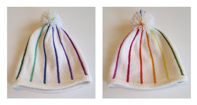 A pinstriped hat--basic and with variations