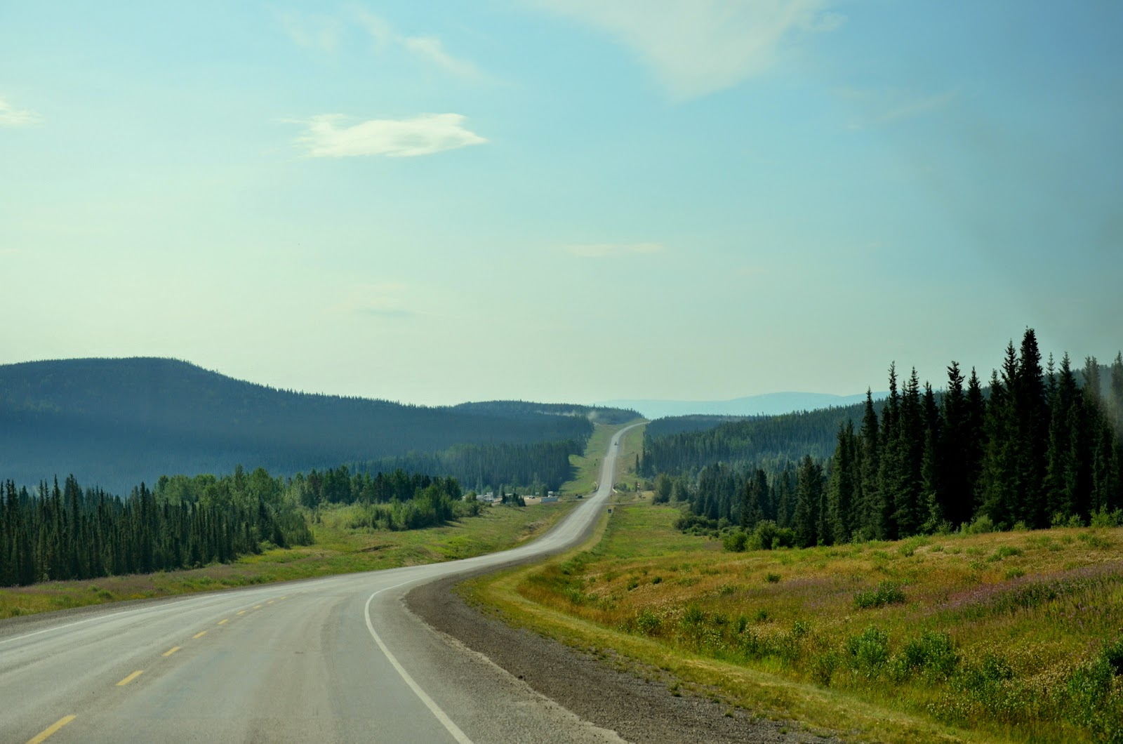 Driving south from Fort Nelson