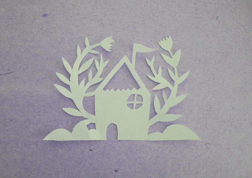 cutter, paper, house, cute, paper house, cutting, cortar, handmade