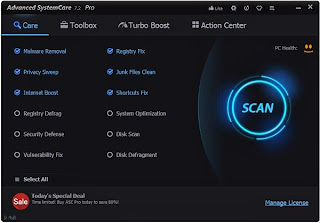 IObit Advanced SystemCare 7.2 Pro License Key Free, Serial For 1Year