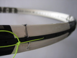 perbaikan raket tennis Rp. 100.000,-