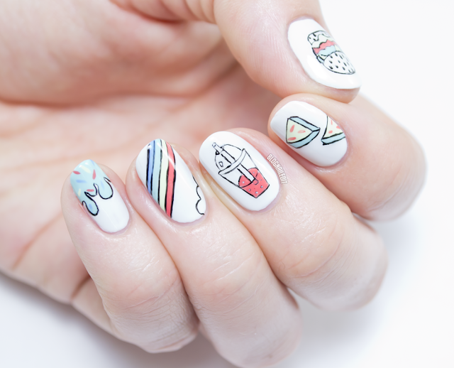 LVX Summer 2015 Swatches - Cartoonish Nail Art