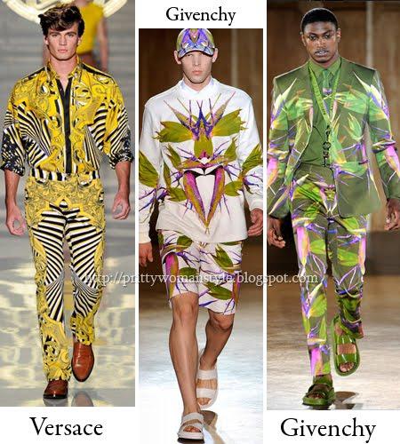 Мъжки дрехи с дигитални щампи и флорални принтове