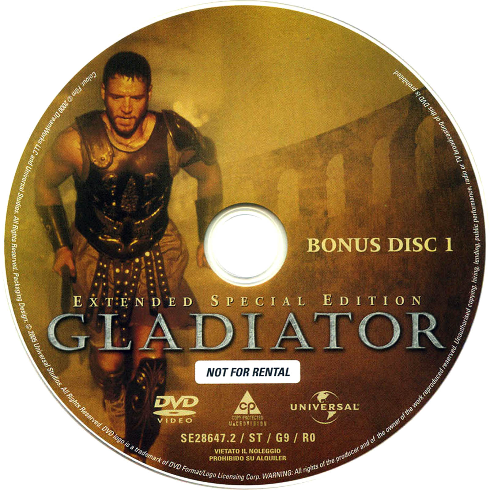 Gladiator Extended Special Edition Disc