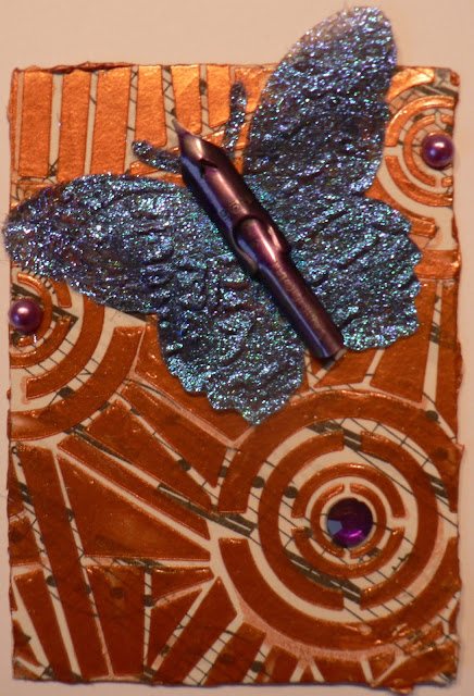 Creative Expressions: Altered Surface ATC