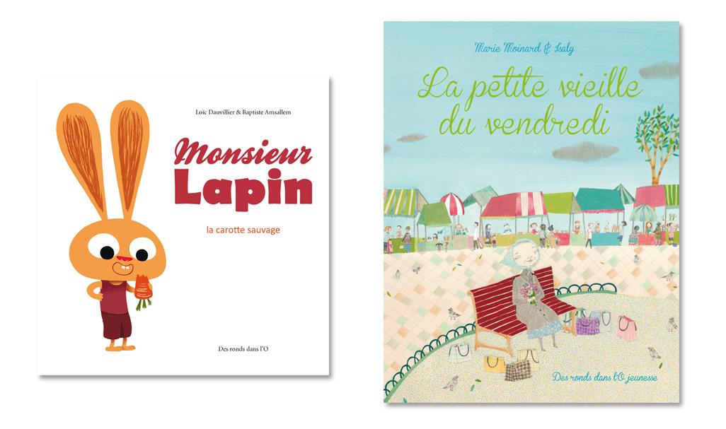 Parutions du 11 octobre 2012 : Monsieur Lapin T1 et La petite vieille du vendredi (clic pour agrandir les couvertures)