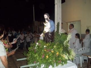 Imágens do encerramento do triduo festivo em honra a São José na Capela de Mãe Rainha no bairro Manoel Nascimento