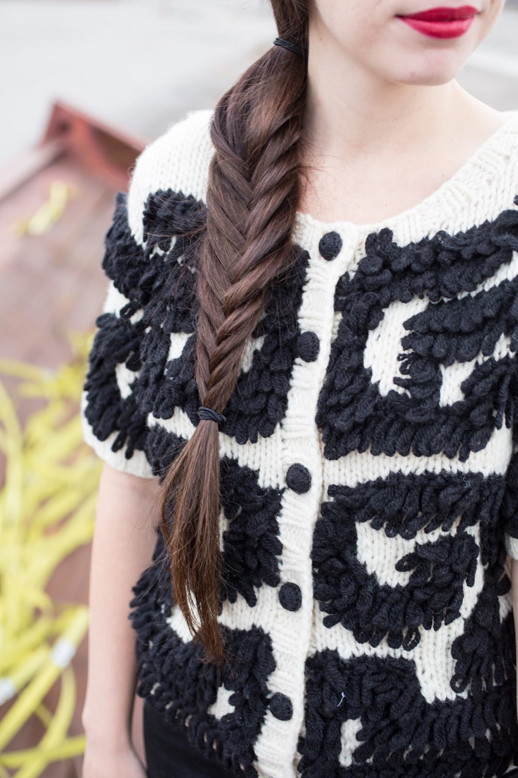 Red Lipstick and a Chunky Fishtail Braid
