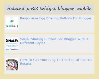 related posts widget for blogger mobile 101helper