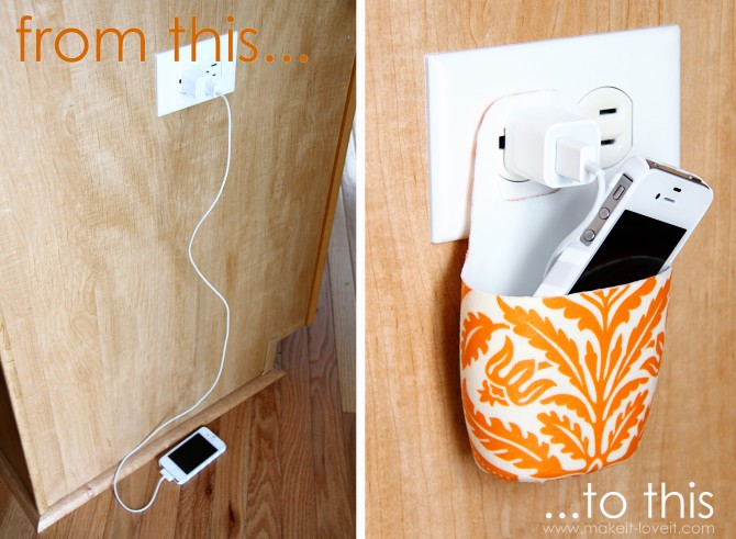 Diy charger station coffee a clever idea clutter Diy cell phone charging station