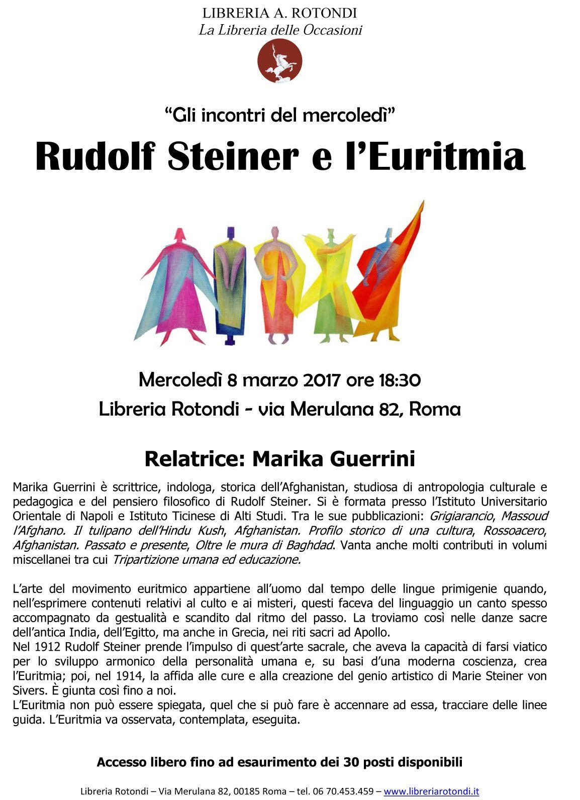 LIBRERIA ROTONDI- MERCOLEDi' 8 MARZO 2017 ore 18,30 si è tenuta la conferenza