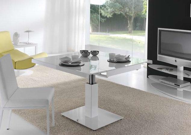 Muebles para espacios reducidos mesa extensible y for Mesa de centro elevable y extensible