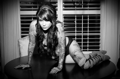 Mary Tattoo Model Model Miss Mary-leigh to